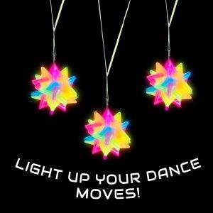 LED Flashing Twisted Star Necklace