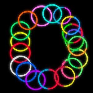 8 Inch Glowstick Bracelets - 8 Color Mix