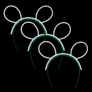 Glow Bunny Ears - White