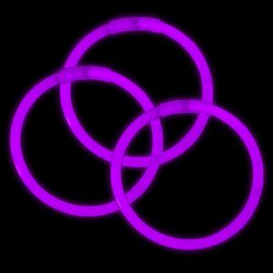 8 Inch Glowstick Bracelets - Purple