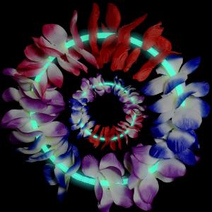 22 Inch Glow Leis - Aqua