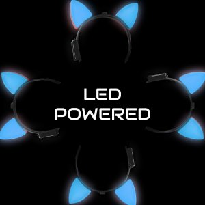 Light-Up Cat Ears - Blue