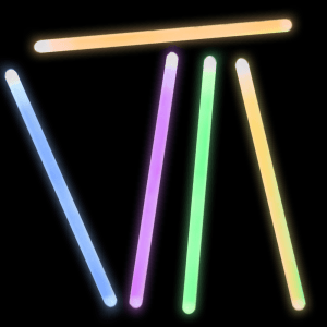 12 Inch Jumbo Light Sticks - 5 Color Mix