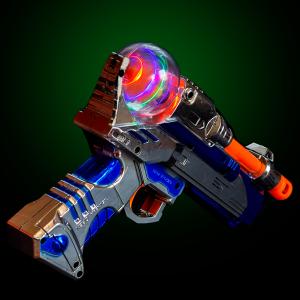 LED Light-up Spinning Pistol