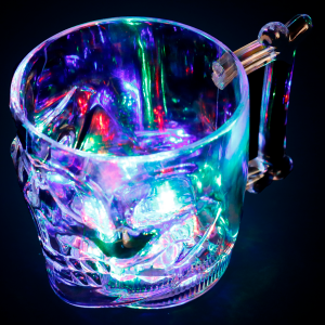 LED Light Up Halloween Skull Mug- 16 oz