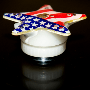 LED Blinky Magnet Pin - American Flag Star