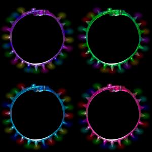 LED Light Up Spike Choker Necklaces
