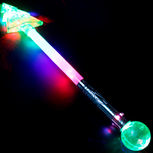 "21"" Light-Up Christmas Tree Magic Ball Wand"