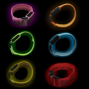"""9.5"""" LED Fabric Bracelet"""