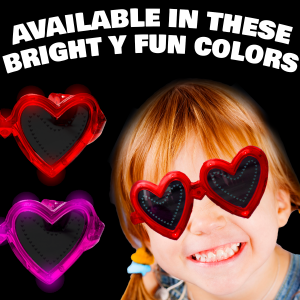 LED Light Up Heart Sunglasses