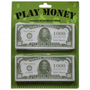 $1000 Bills Play Money