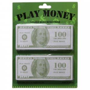 $100 Bills Play Money