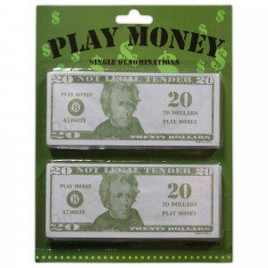 $20 Bills Play Money