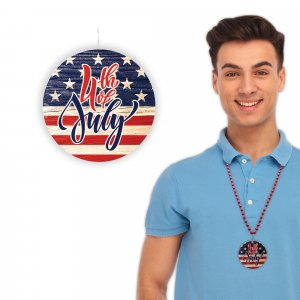 4th of July Flag Necklaces