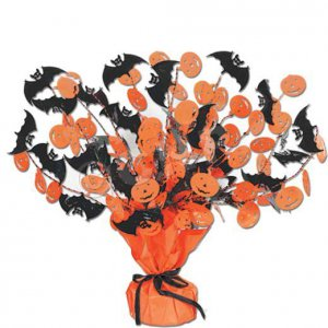 """Bat & Pumpkin 18"""" Centerpiece"""