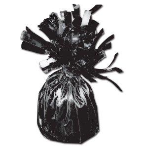 """Black Foil Balloon 2 1/2"""" Weight"""