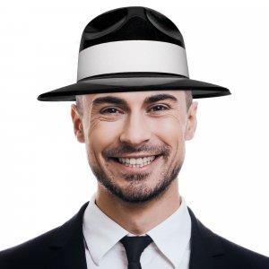 Black Gangster Fedora Hats