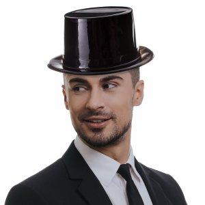 Black Plastic Top Hats