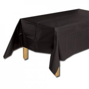 Black Plastic Table Cover