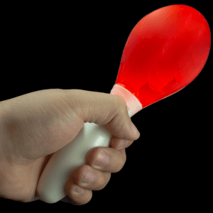 LED Light Up Maraca Supreme - Red 7 Inch