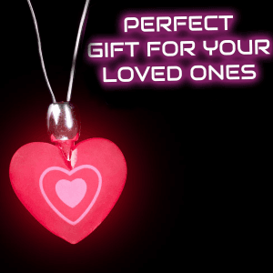 """14"""" Flashing Heart Necklace"""