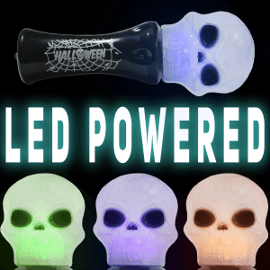 LED Light-Up Spooky Halloween Skull Wand