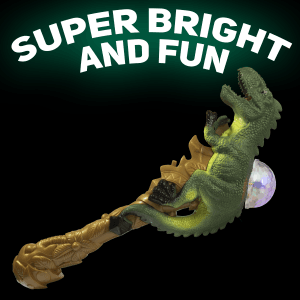 "13"" Light-up T-Rex Dome Wand"