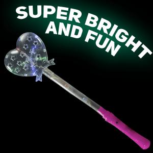 Light-Up Glitter Heart Wand