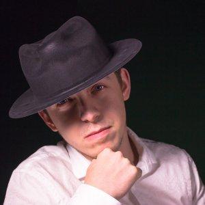 Black Velour Gangster Fedora Hats