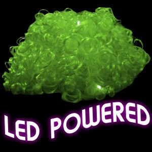 LED Light Up Afro Wig - Green