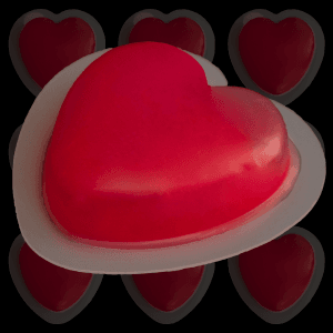 Glow in the Dark Badge Heart - Red