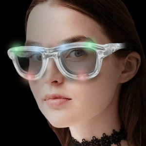 LED Light-Up Classic Retro Sunglasses