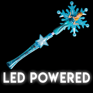 Light-Up Snowflake Princess Wand