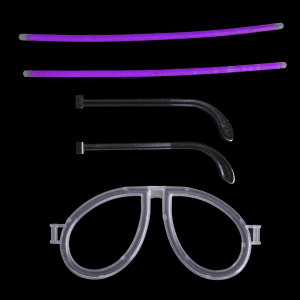 Glow Eyeglasses - Aviator - Purple (Individually Wrapped)