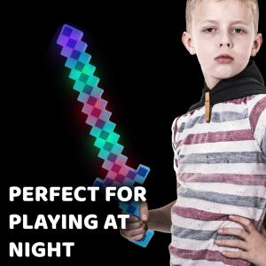 LED Light-Up Pixel Sword - Blue