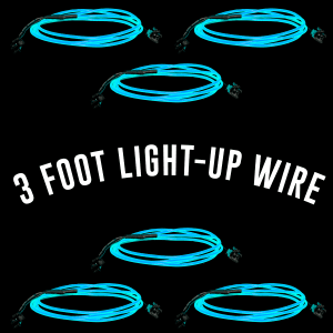 3 Foot Light-Up EL Wire - Aqua