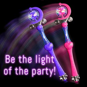 "18"" Light-Up Spinning Princess Wands"