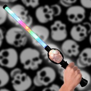 LED Flashing Multicolored Skull Wand