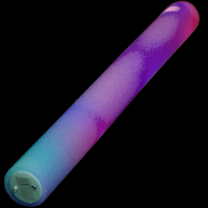 LED Flashing 16 Inch Multi-Color Foam Baton