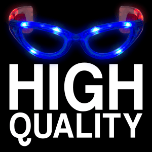 LED Light-Up Patriotic Eyeglasses