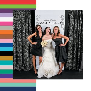 Personalized Scrollwork Photo Booth Backdrop (1 Piece(s))
