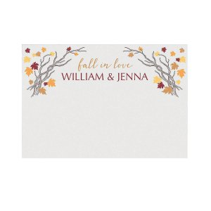 Personalized Fall Wedding Photo Booth Backdrop (1 Piece(s))