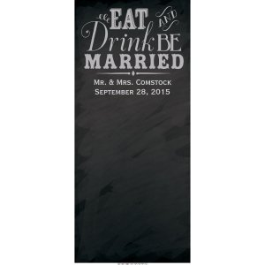 Personalized Wedding Chalkboard Photo Booth Backdrop (1 Piece(s))