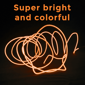 6.5 Foot Light-Up EL Wire - Orange