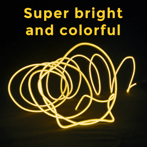 6.5 Foot Light-Up EL Wire - Yellow