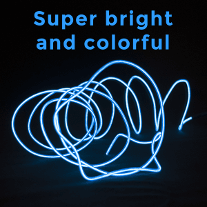 6.5 Foot Light-Up EL Wire - Aqua