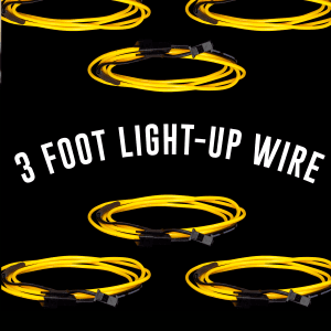 3 Foot Light-Up EL Wire - Yellow