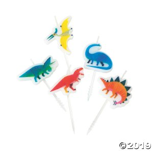 Party Dinosaur-Shaped Candles (5 Piece(s))