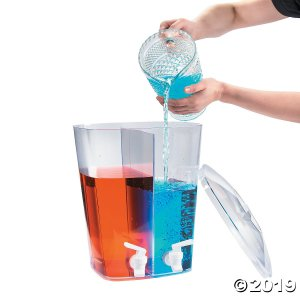 Clear Divided Beverage Dispenser (1 Piece(s))
