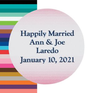 Personalized Ombre Pattern Wedding Favor Stickers (144 Piece(s))
